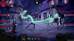 Rogue Lords looks like Slay The Spire spliced with a Tim Burton movie