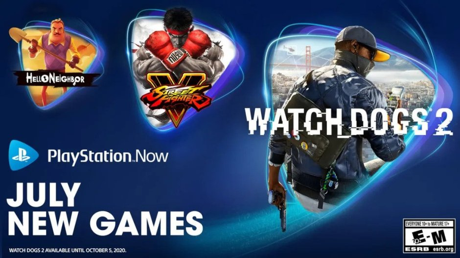 PlayStation Now adds Watch Dogs 2, Street Fighter V, Hello Neighbor