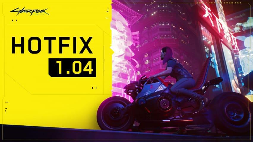 cyberpunk 2077 Hotfix 1.04 cover