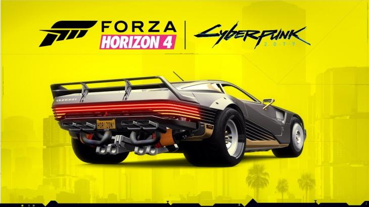 Forza האָריזאָן 4 סיבערפּונק 2077