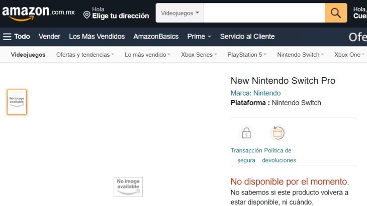 Nintendo Switch Pro Amazon Mexico
