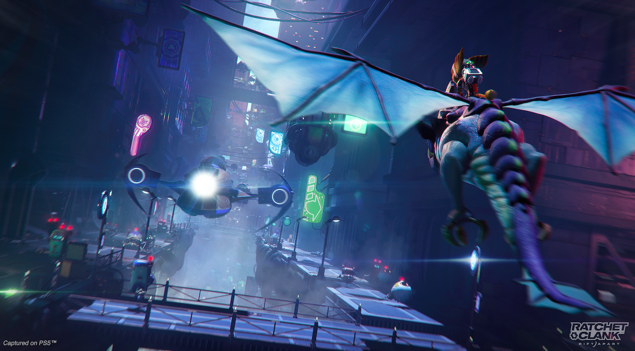 Image of Dragon Riding from Ratchet & Clank: Rift Apart