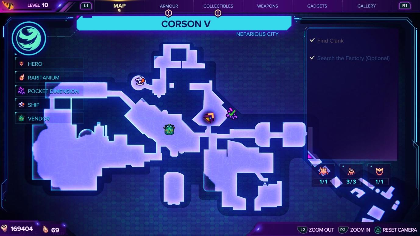 Ratchet & Clank: Rift Apart Corson V Map and Craiggerbear location