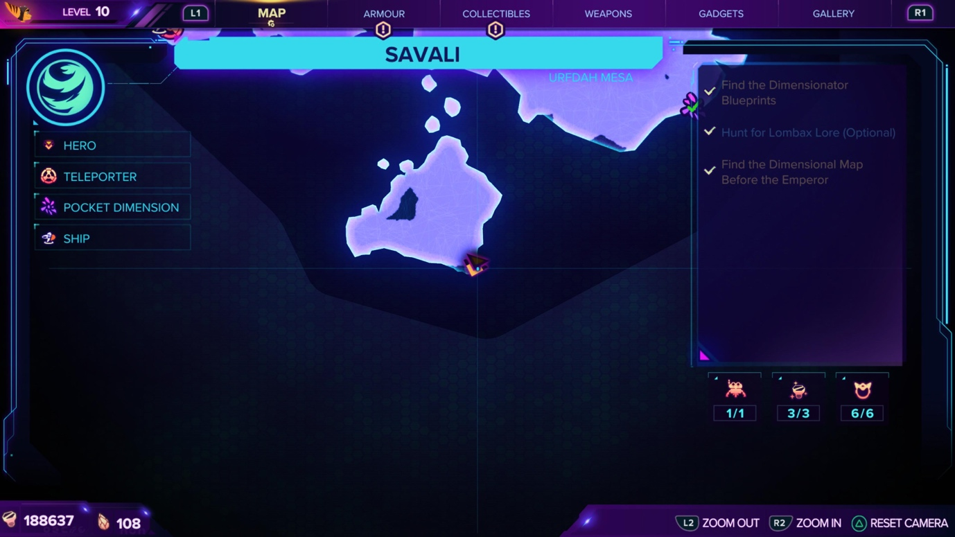 Ratchet & Clank: Rift Apart Savali Map and Craiggerbear location