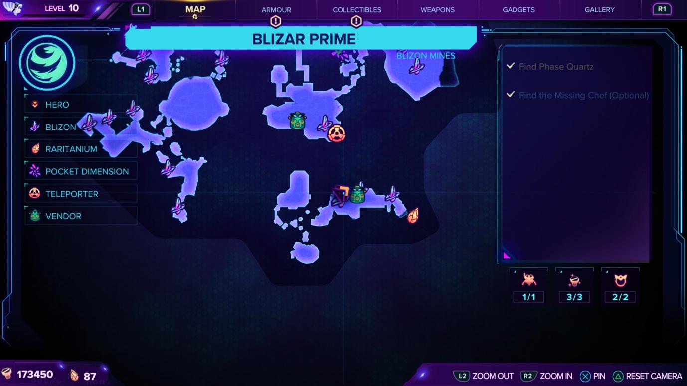 Ratchet & Clank: Rift Apart Blizar Prime Map and Craiggerbear location