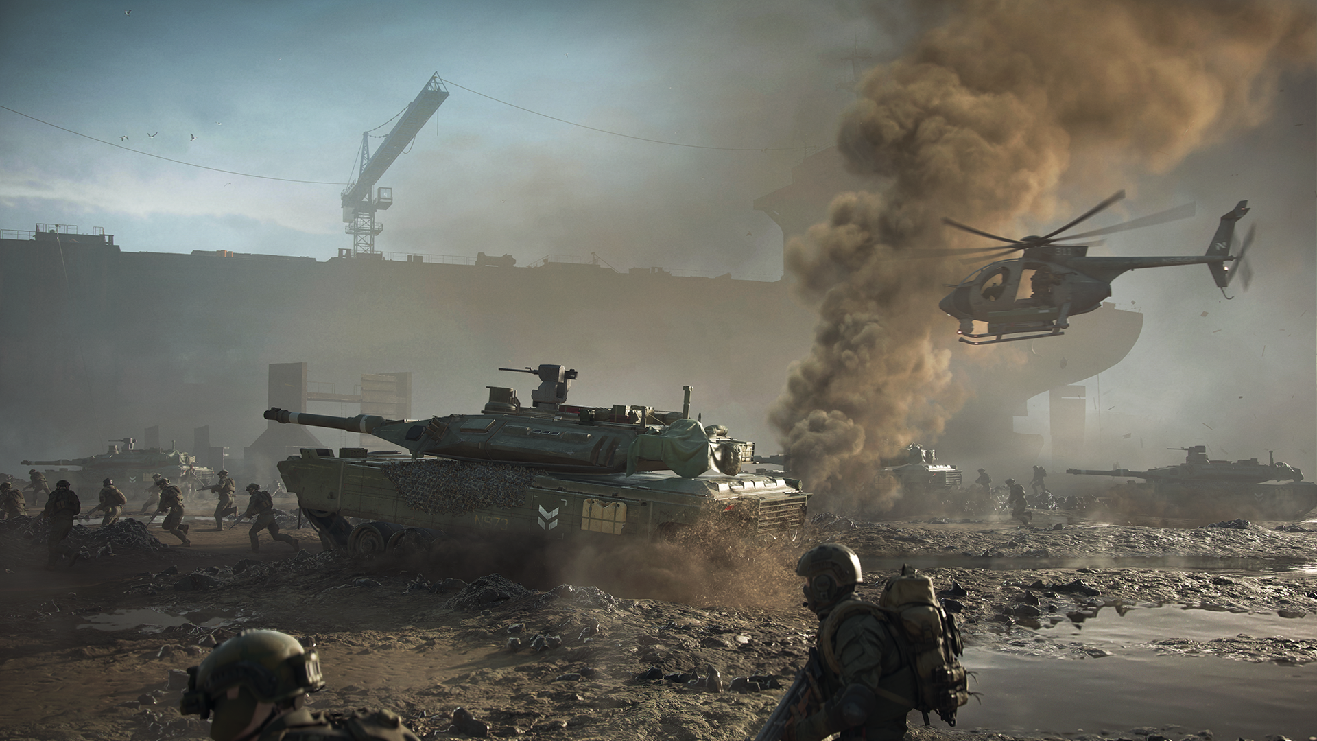 Image of Tank and Helicopter from Battlefield 2042