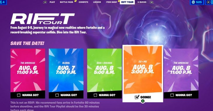 Fortnite: The Rift Tour Dates, Quests, And Details